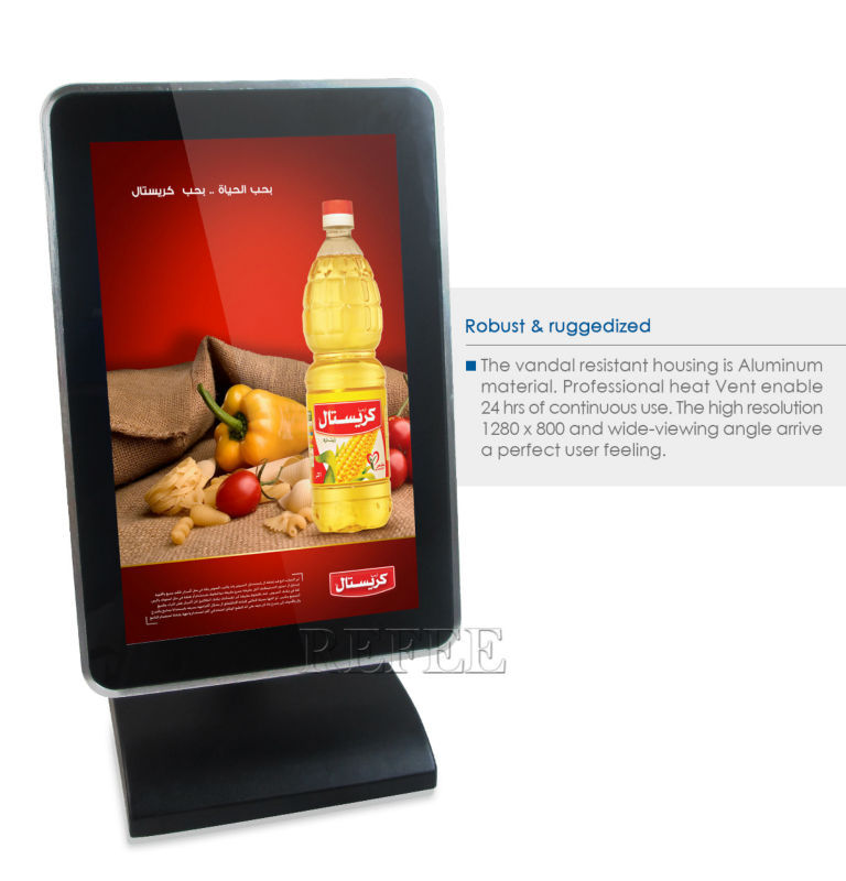 Android Touch DisplayRestaurant Lcd DisplayNetwork Lcd G Wifi Bus - Restaurant table advertising