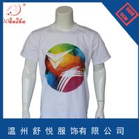 Custom cheap print t shirt, promotional cotton t shirt, round neck short sleeve t shirt