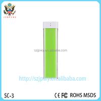 Cheapest 2600mah power banks a grade battery bank light mini usb charger power bank