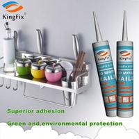 black color No odor multi-purpose nail free bond adhesive for Crystal plate