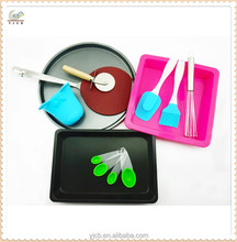 Non-stick carbon steel pizza tray rectangle cake mould pizza tool set