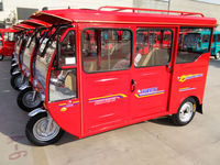 three wheel cabin gasoline passenger tricycle for sale