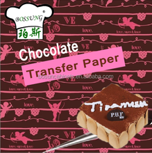 Bakeware Food Chocolate Transfer Paper for Cake decoration