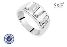 Clásico diseño de anillo de metal, anillo de la moda, anillo de los hombres