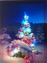 CE Certified 2015 lastest abstract tree canvas painting with led light for holiday gift cheap china wholesale