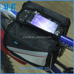 multifunctional cycling front saddle bag with exterior earphone port