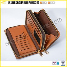 Selection Of High Quality Man's Business Travel Leather Wallet Wallet With Hidden Cell Phone Pockets