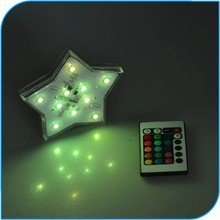 2015 Party Decoration Modern Amazing Party Events Decorative Star Shape LED Remote Controlled Lighting