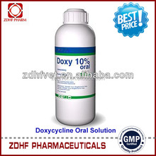 Factory Price Doxycycline Oral Solution 10% With High Quality in Horse