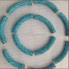 Blue ribbon shamballa bracelet DIY bracelet