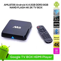 AML8726 M8 Android 4.4 2GB DDR3 4K Android TV Box, Quad Core Full HD Android TV Box Set Top Box Support AV HDMI 3G