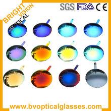 colorido lente de policarbonato espejo gafas de sol