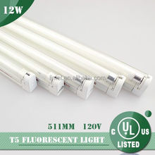 white light fixture UL T5 120V AC with neon fluorescent tube