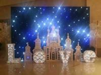 Promotion!!! Christmas lights fireproof velvet led star curtain/led star cloth