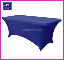 72'' Royal Blue Rectangular Lycra Stretch Spandex Table Cloths Elastic Wedding Table Covers