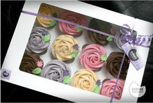 Standard 24 pcs white paper cupcake box, custom design cupcake boxes,cheap price 24 cupcake box