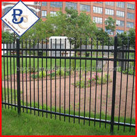 Anping Baochuan wire mesh products hot-dip galvanized plastic coated 3 rail steel fence