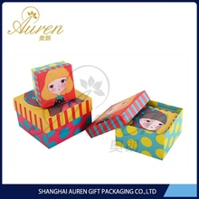 Chip board birthday cake packing box