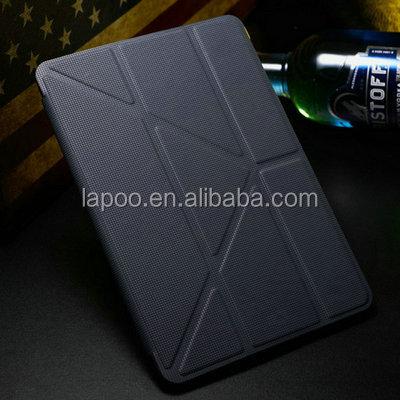 New Smart cover 4 Shapes PU Leather Stand case for iPad Mini / Mini Retina 2