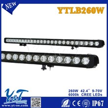 Y&T High End products, LED combo beam work light bar 10-30v alloy off road driving lamp, 260W Single Row LED light bar