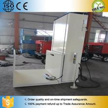 Vertical platform lift for handicapped barrier free lifting platform