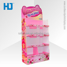 Corrugated cardboard pallet display,dolls display stand,kids products cardboard display