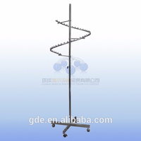 fashion clothes display hanger/garment racks with wheels