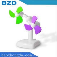 Double Engine Motors Revolutionary Desk USB Mini Fan / Promotional Gift Double blades Revolving Handed Fan