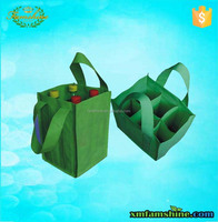 promition non woven 6 bottle wine tote bag