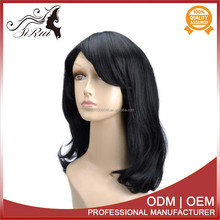 High density synthetic curly wig, synthetic baby reborn black doll wig, u part synthetic wig