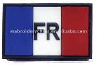 New design - Embossed PVC Patch with Velcro back -Flag