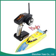 Wl911 yüksek hızlı 2.4G kablosuz uzaktan kumanda balık yemi teknesi sarı