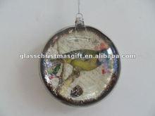 popular wholesale festival items christmas flat hollow plastic balls ornaments