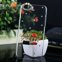 Huashi Case for iPhone 6,For iPhone 6 iPhone 5 Smart Phone DIY Mobile Diamond Crytal Case