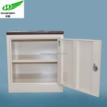 White bedside small metal corner cupboard