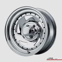 New product for 2015 China high quality 13 inch Blade dirctional chrome steel wheel for trailer 4x4