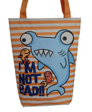 Fashion style cute custom cartoon printed canvas tote bags