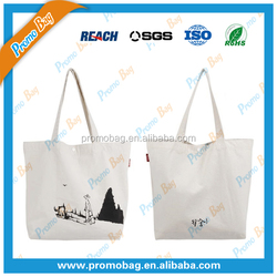 Natural Foldable Cotton Tote Bag Natural Women Shopping Bag