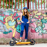 original brand INOKIM orange color light weight adult electric scooter