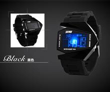 cheap price waterproof 30m airplane design led watch digital watch