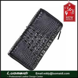 genuine crocodile leather long wallet for men clutch bag men's business multi-card bits wallet