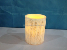 Hot Sell Bark Floating Paraffin Wax Led Candle