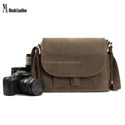 JW826 WaterProof Genuine Leather Digital Camera Bag DSLR/SLR Professional Camera Bag Insert Padded Leather Camera Bag for NX300