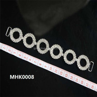 Circle rhinestone connector for swimwear connection MHK0008