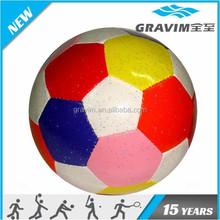 Fashion colorful printef football filling cotton stress ball
