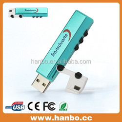 blue truck shape USB Flash disk,bulk USB Flash drive,more color more shape to choose