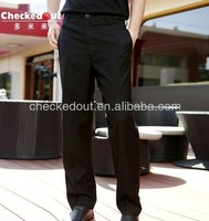 Suitable black chef pants&cool vent chef pants/service peronnel &and chef pants
