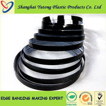 black color pvc plastic edge tapes for decoration furniture