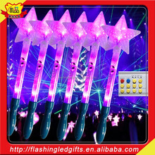 fairy cheap Popular Promotion Gift Led cheering stick China Manufacturers Pentagram Glowing Wand Pentagram glow stick