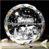 Shining crystal hockey puck paperweight